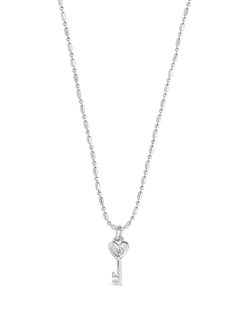 Heart Key Pendant Necklace - Sterling Forever