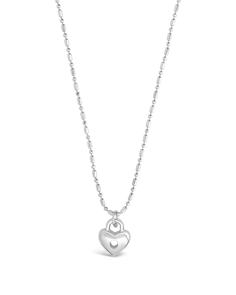 Heart Lock Pendant Necklace - Sterling Forever