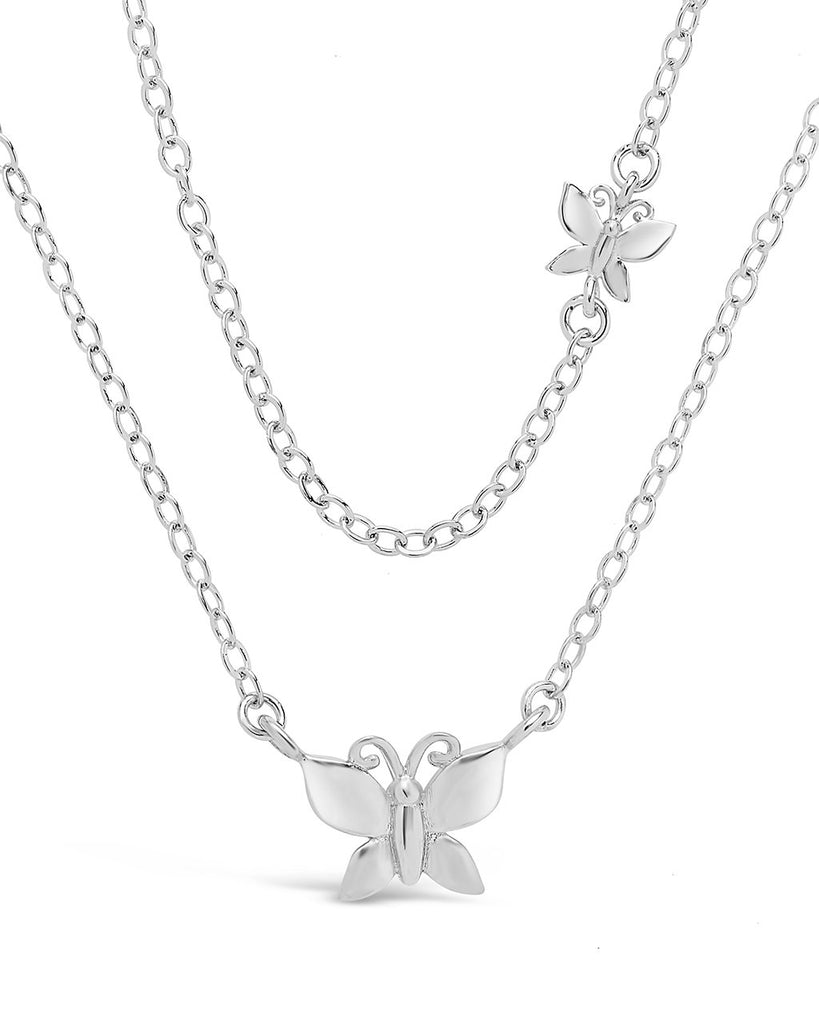 Butterfly Layered Necklace - Sterling Forever