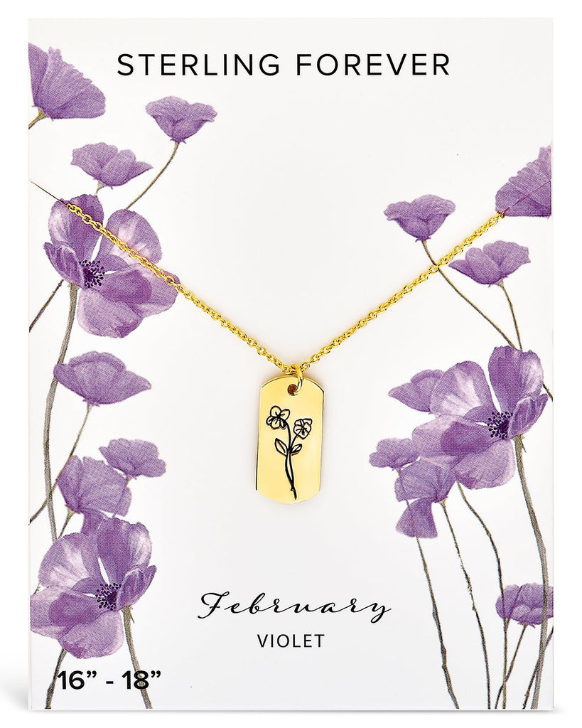Birth Flower Pendant - Sterling Forever
