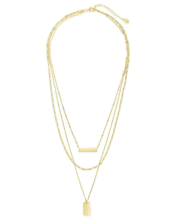 Triple Layered Bar Necklace - Sterling Forever