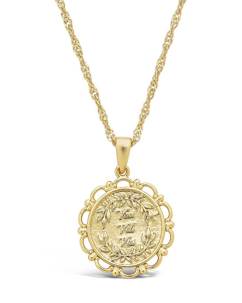 Veni, Vidi, Vici Pendant Necklace Sterling Forever Gold