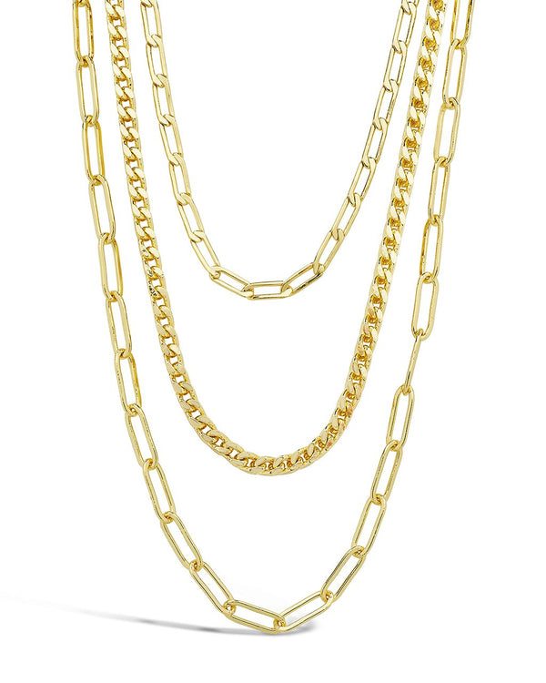Triple Layer Chain Necklace Necklace Sterling Forever Gold