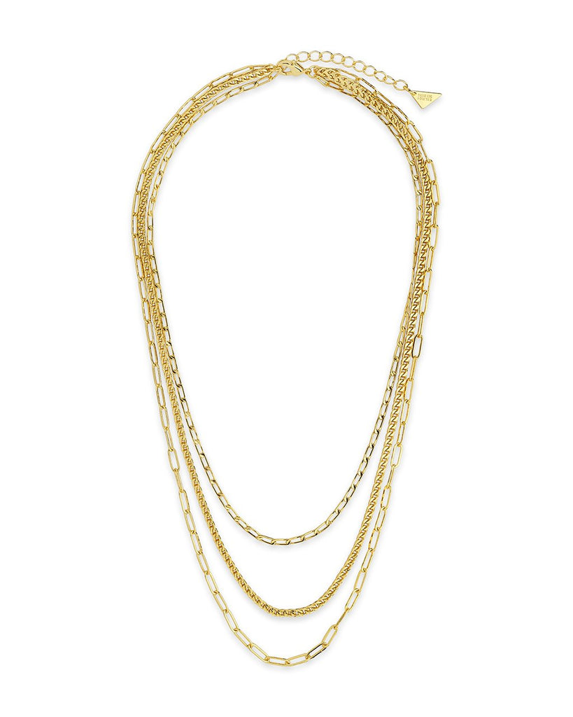 Triple Layer Chain Necklace Necklace Sterling Forever