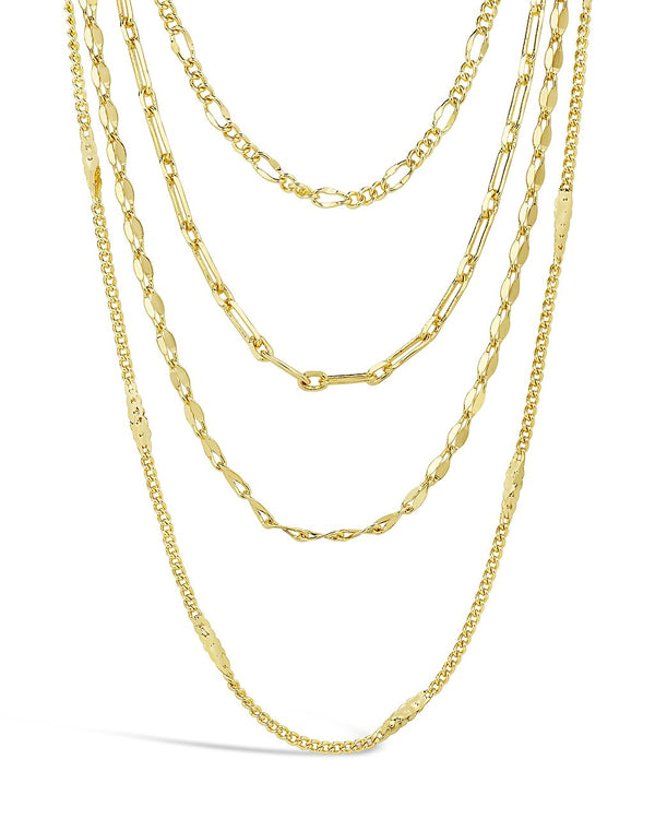 Four Layer Chain Necklace Necklace Sterling Forever Gold