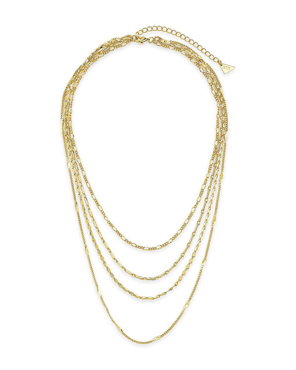 Four Layer Chain Necklace Necklace Sterling Forever