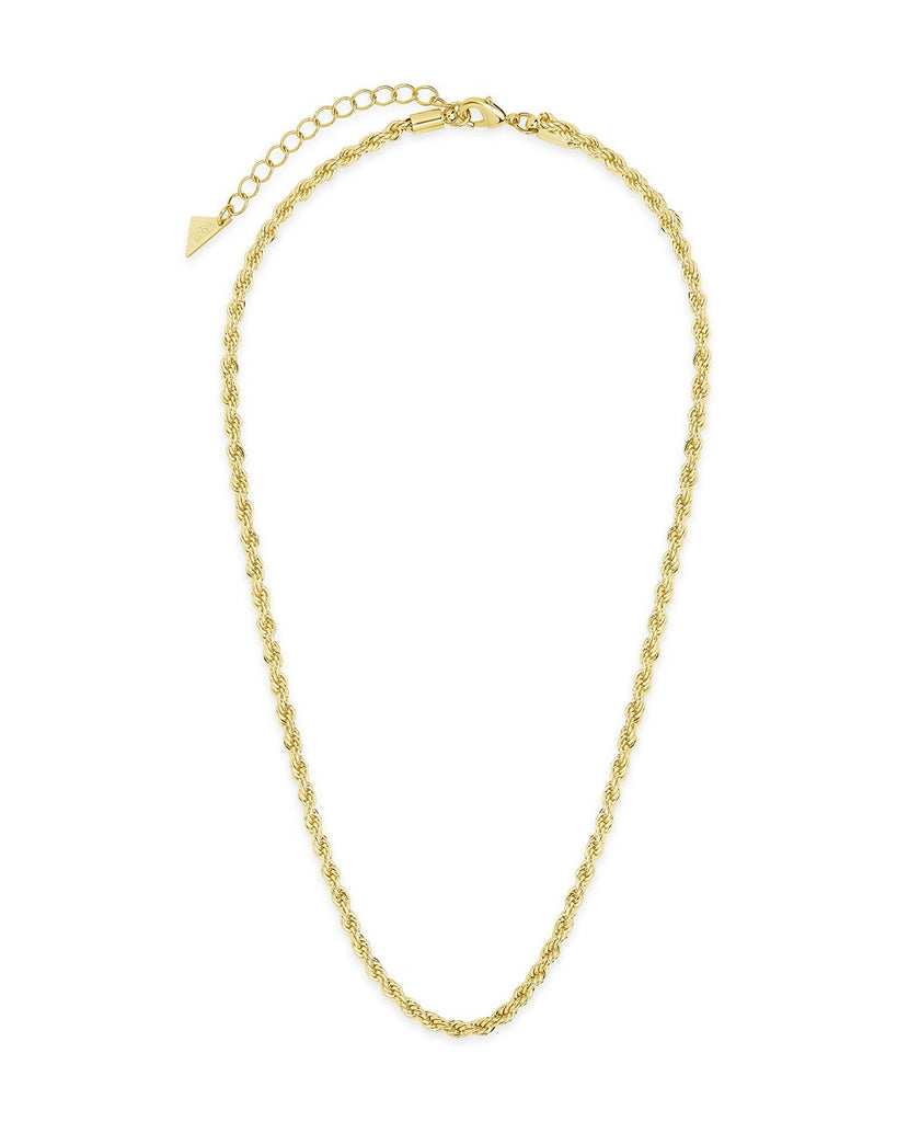 Rope Braided Twist Chain Necklace Sterling Forever