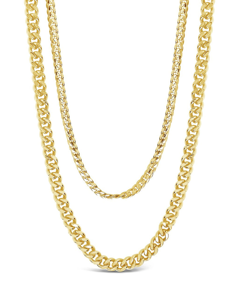 Everyday Layered Curb Chain Necklace Necklace Sterling Forever Gold