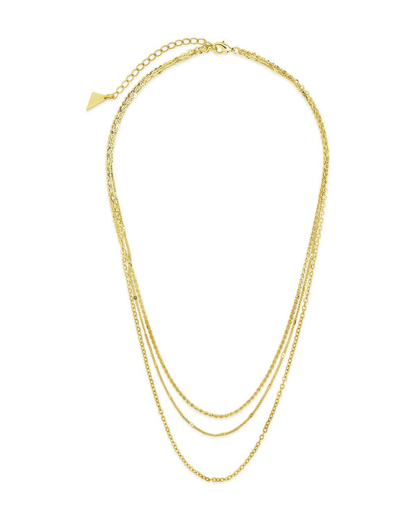 Dainty Three Layer Chain Necklace Necklace Sterling Forever