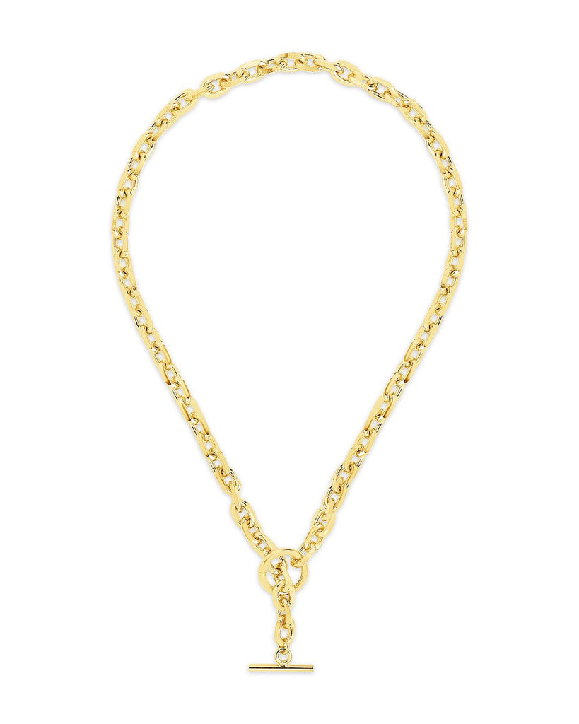 Bold Chain Toggle Necklace Necklace Sterling Forever Gold