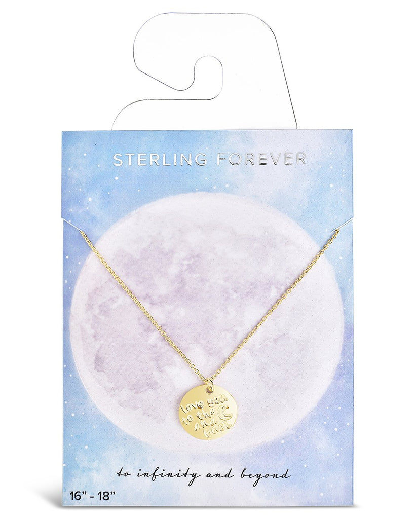 Sterling Silver Love You to the Moon & Back Pendant Necklace - Sterling Forever