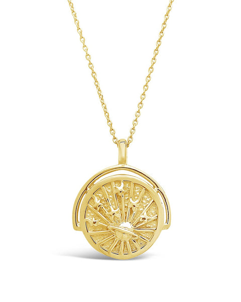 Celestial Rotation Pendant Necklace Necklace Sterling Forever Gold