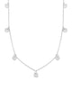 Multi Charm Disk Necklace - Sterling Forever