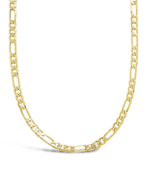 Figaro Chain Necklace Necklace Sterling Forever Gold