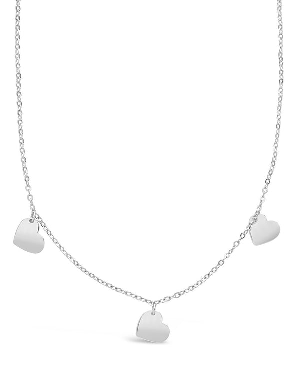 Heart Charm Necklace - Sterling Forever