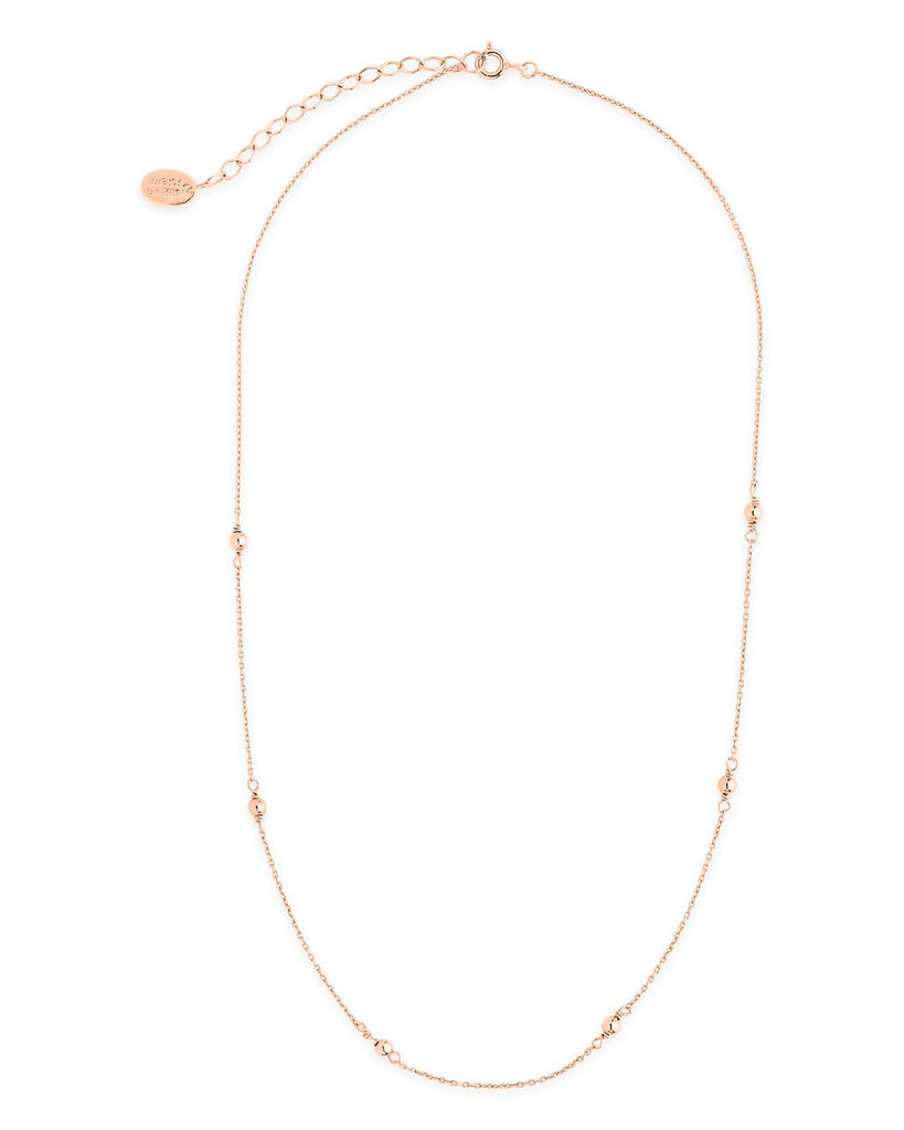 Sterling Silver Beaded Necklace - Sterling Forever