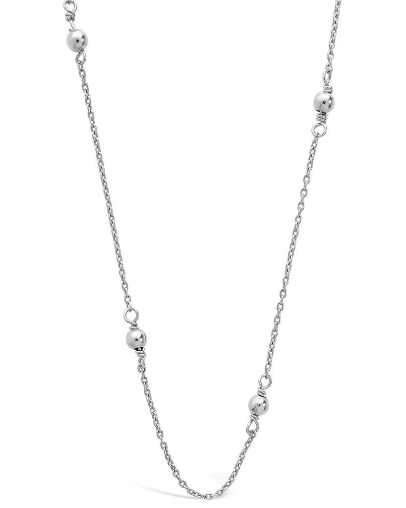 Sterling Silver Beaded Necklace Necklace Sterling Forever Silver