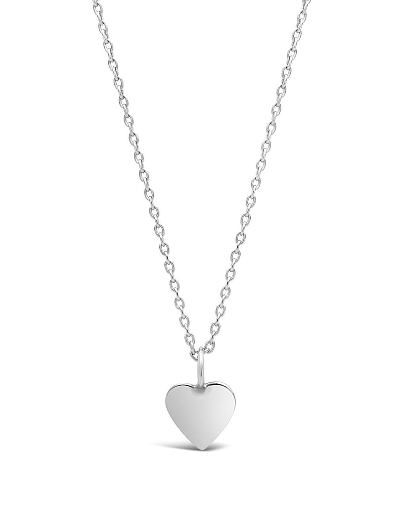 Sterling Silver Delicate Heart Pendant Necklace - Sterling Forever