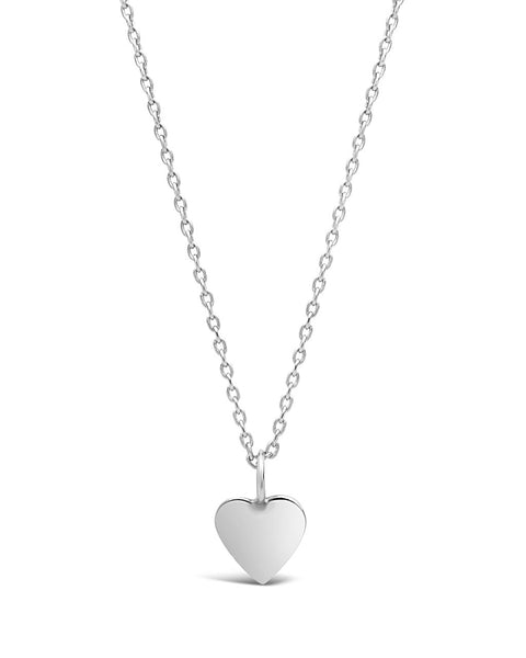 Sterling Silver Delicate Heart Pendant Necklace Necklace Sterling Forever Silver