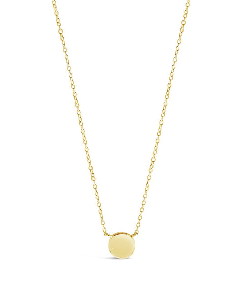 Sterling Silver Stationed Disk Necklace Necklace Sterling Forever Gold