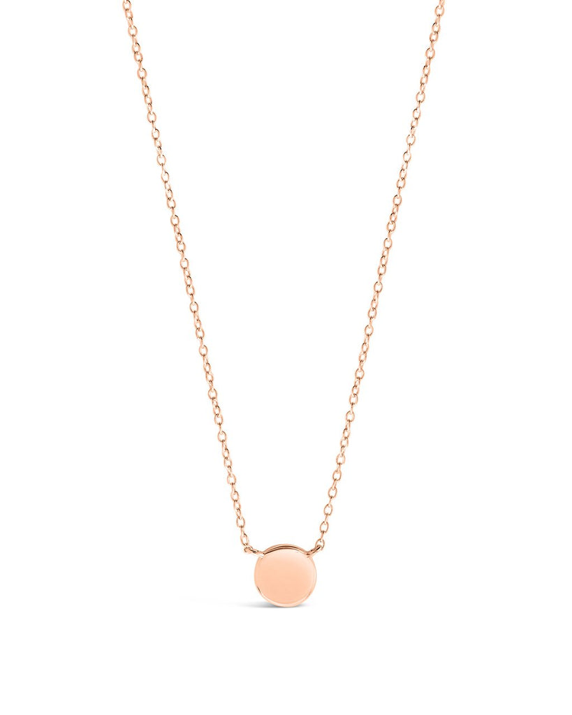 Sterling Silver Stationed Disk Necklace - Sterling Forever