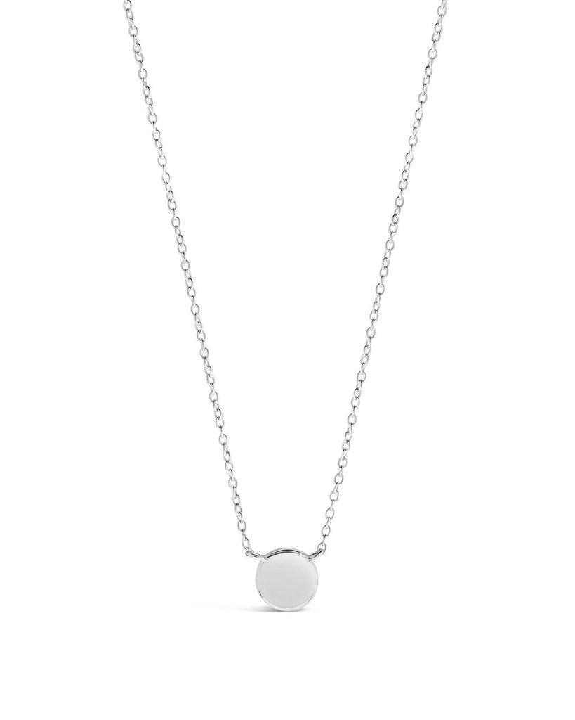 Sterling Silver Stationed Disk Necklace Necklace Sterling Forever Silver
