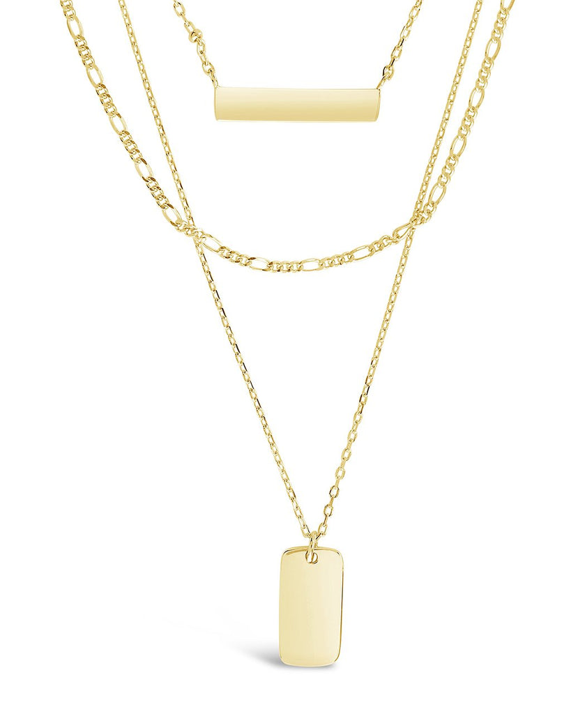 Sterling Silver Layered Bar Necklace - Sterling Forever