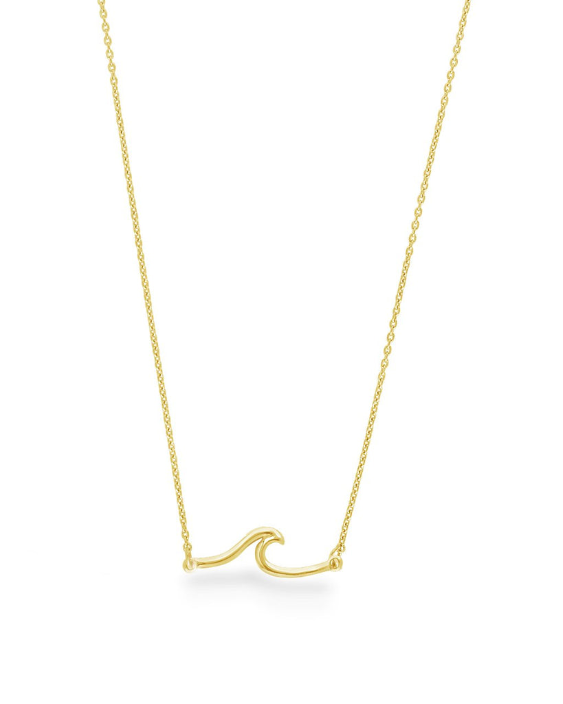 Sterling Silver Dainty Wave Necklace - Sterling Forever