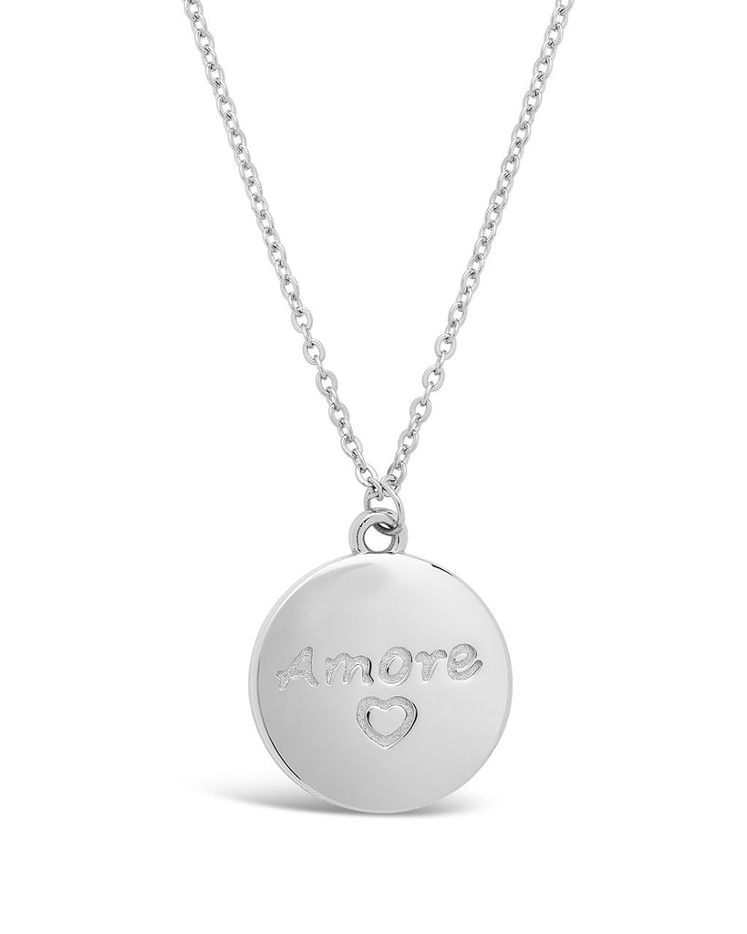 Sterling Silver Amore Pendant Necklace - Sterling Forever
