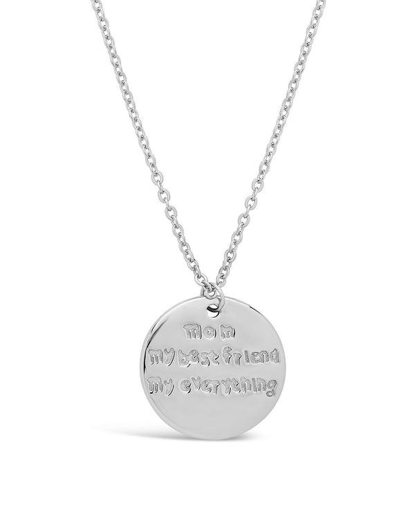 Sterling Silver Mom, My Best Friend Pendant Necklace - Sterling Forever