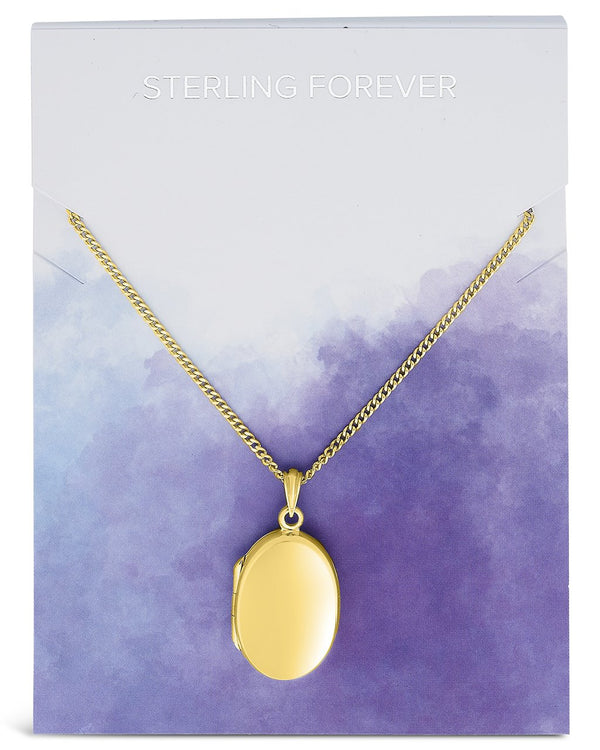 Sterling Silver Round Locket Necklace Necklace Sterling Forever Gold