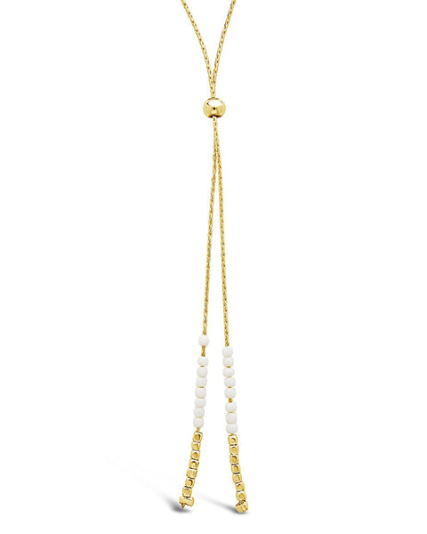 Beaded Sliding Bolo Necklace Necklace Sterling Forever Gold