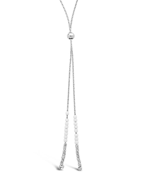 Beaded Sliding Bolo Necklace - Sterling Forever