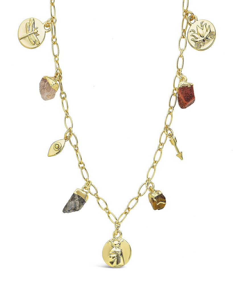 Multi Charm Chain Necklace Necklace Sterling Forever Gold