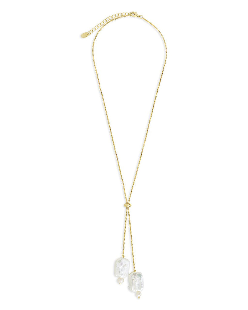 Pearl Bolo Necklace - Sterling Forever