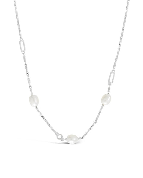 Dainty Pearl Chain Necklace - Sterling Forever