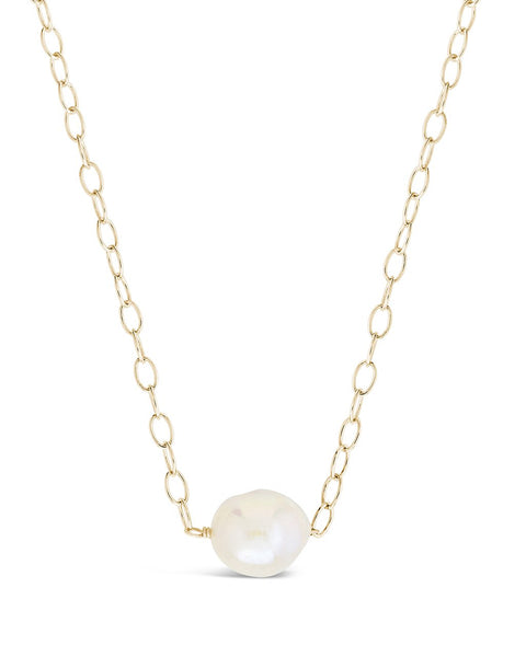 Medium Pearl Pendant Necklace - Sterling Forever