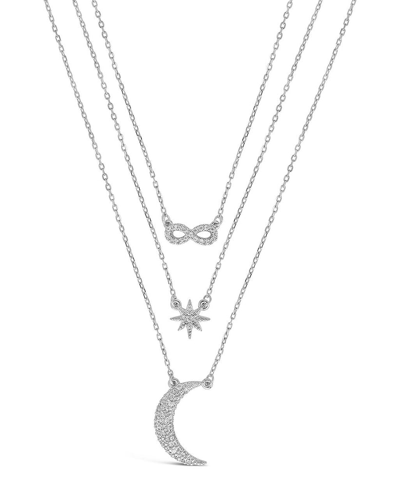 CZ Celestial Infinity Necklace - Sterling Forever