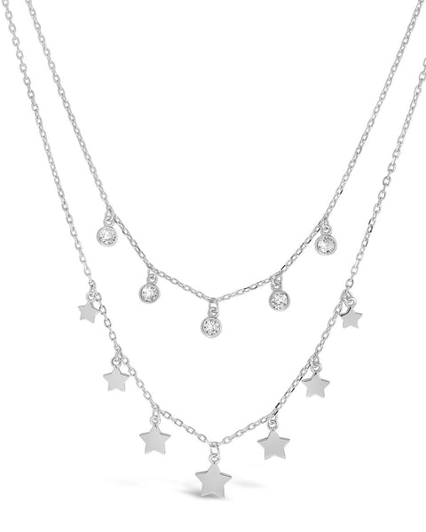 Cute Butterfly CZ Necklace-Sterling Silver-Fashion,Woman,Dainty,Gift Idea,Simple