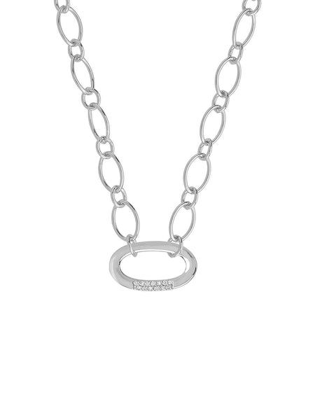 Illusion Lock Pendant Necklace Sterling Forever Silver