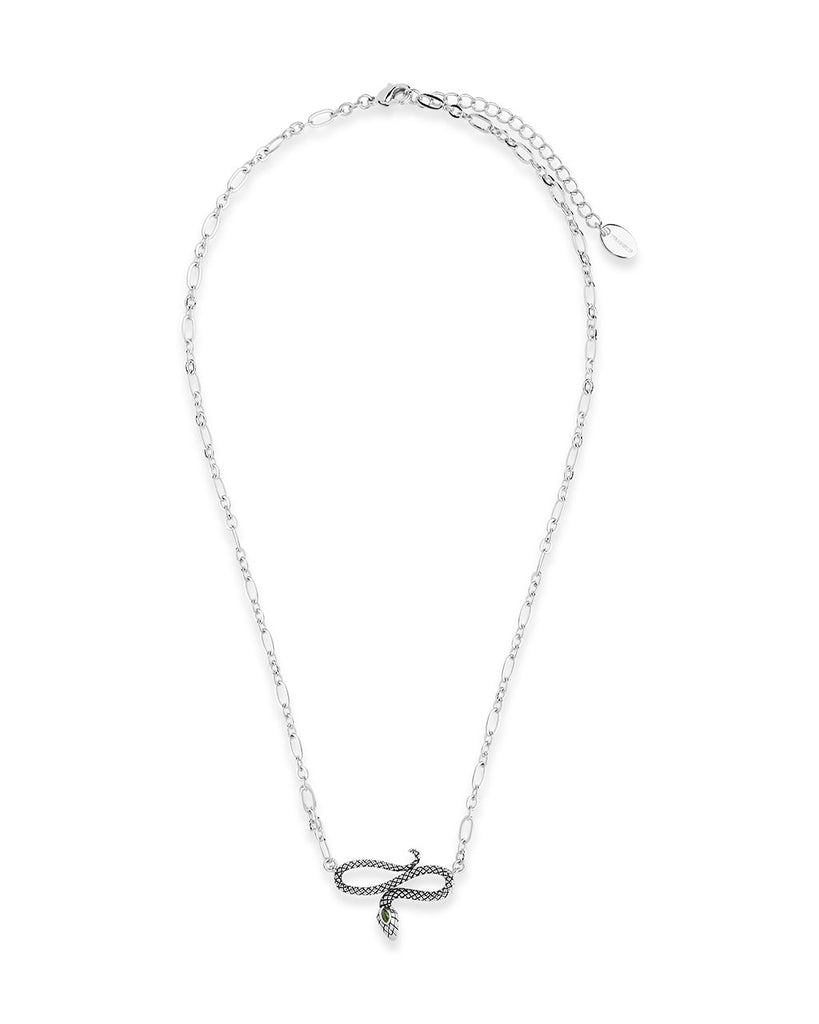 Linked Snake Pendant Necklace Sterling Forever