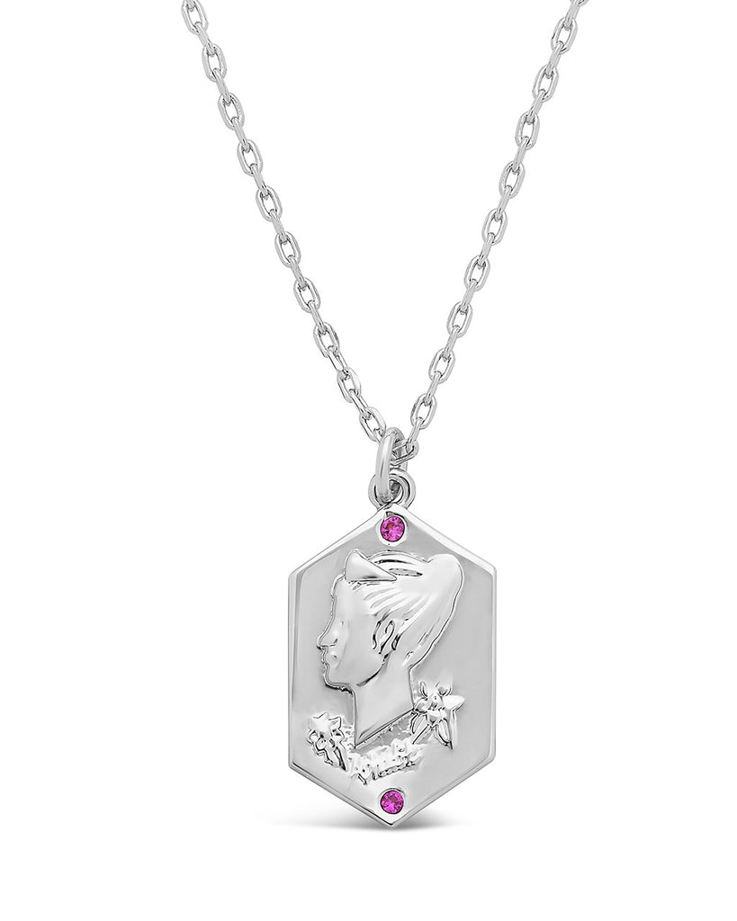 Aphrodite Raised Pendant Necklace Sterling Forever Silver