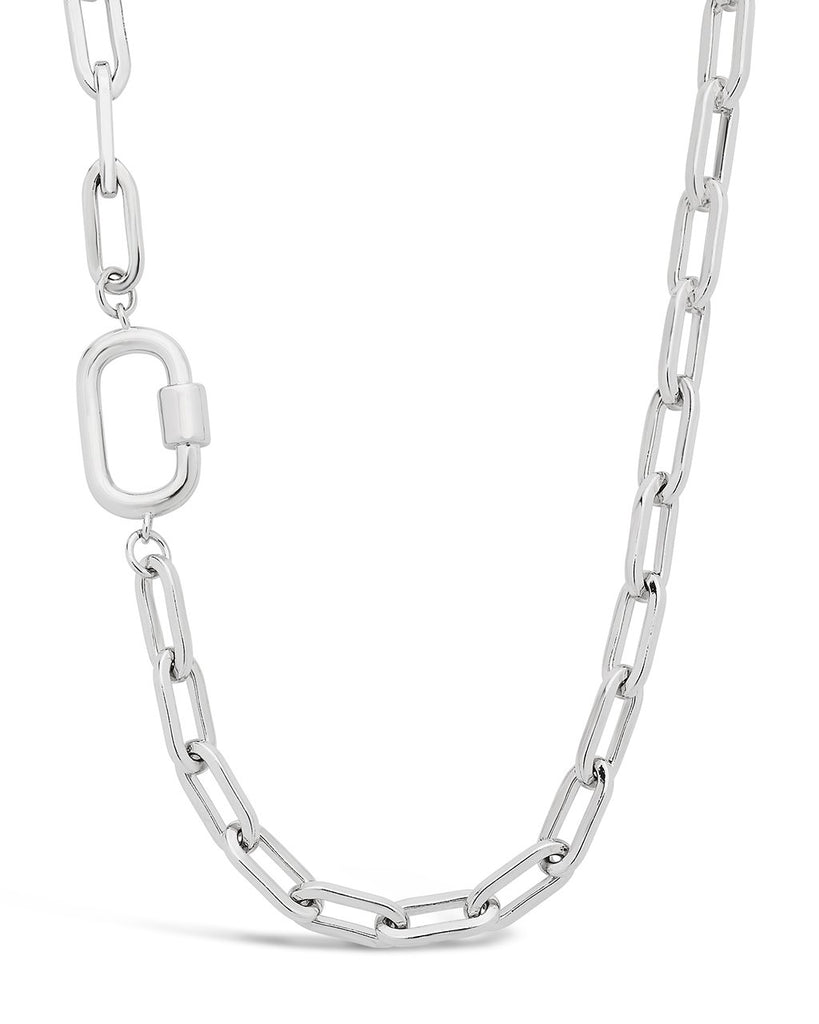 Mini Fixed Carabiner Necklace Necklace Sterling Forever