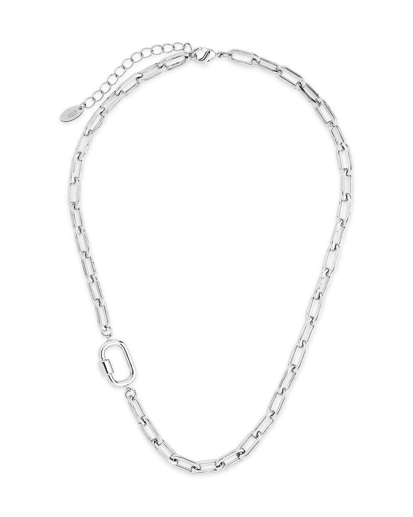 Mini Fixed Carabiner Necklace Necklace Sterling Forever Silver