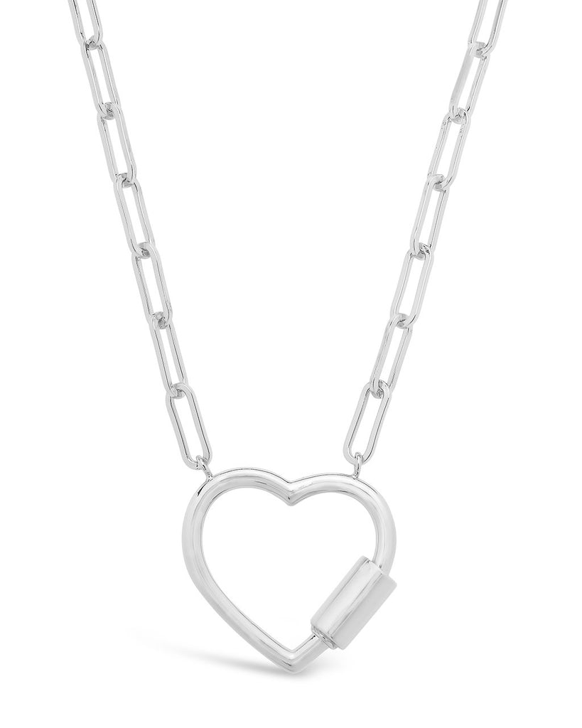 Polished Heart Carabiner Necklace Necklace Sterling Forever Silver