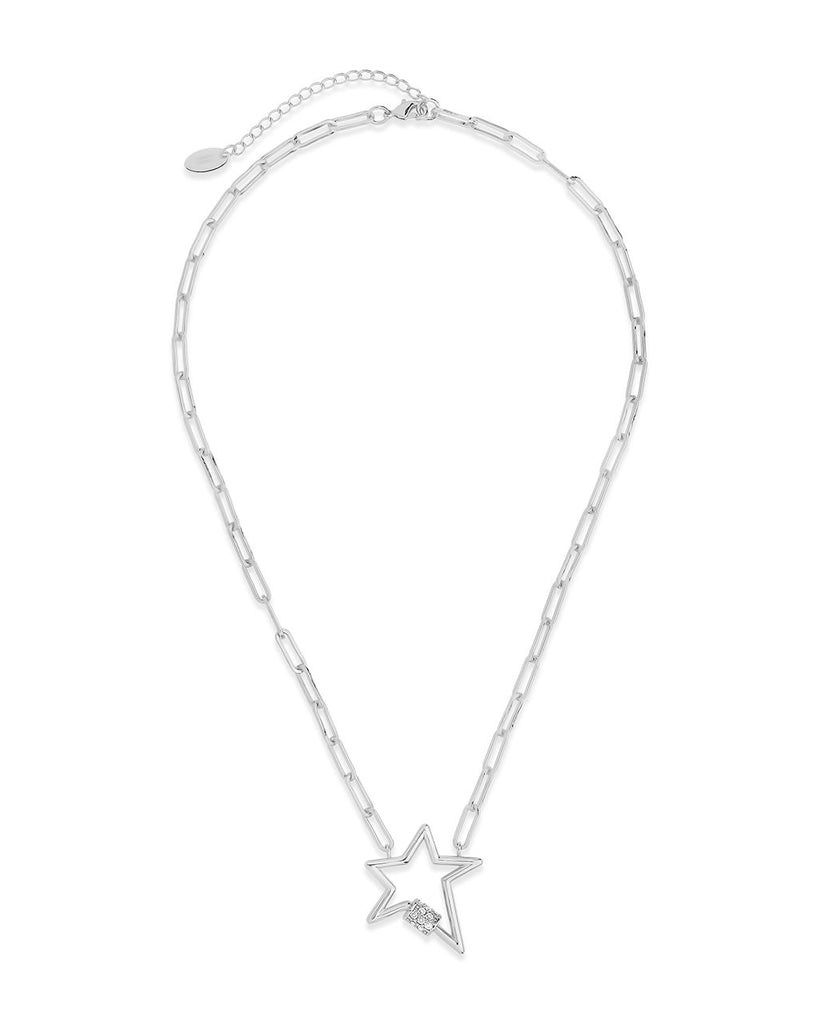 CZ Star Carabiner Necklace Necklace Sterling Forever