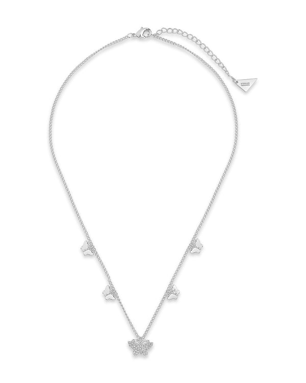 Dainty Butterfly Choker Necklace Necklace Sterling Forever Silver