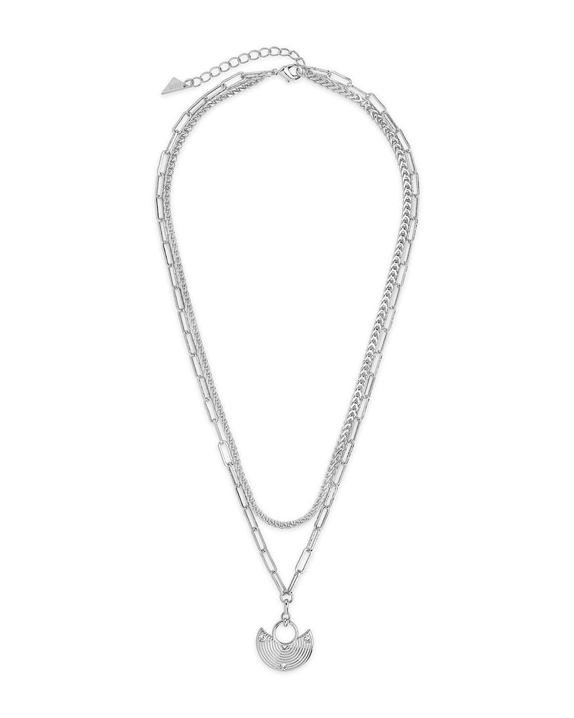 Box Chain & Long Link Layered Necklace Necklace Sterling Forever