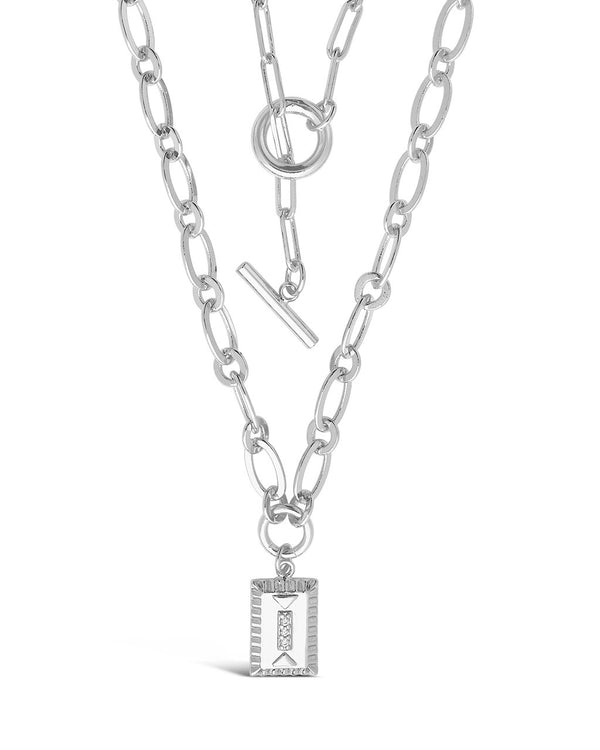 Toggle and Pendant Chain Layered Necklace Necklace Sterling Forever Silver