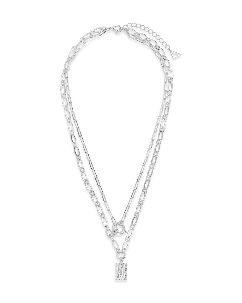 Toggle and Pendant Chain Layered Necklace Necklace Sterling Forever